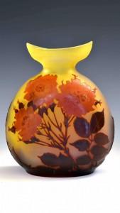 ガレ 薔薇文花瓶